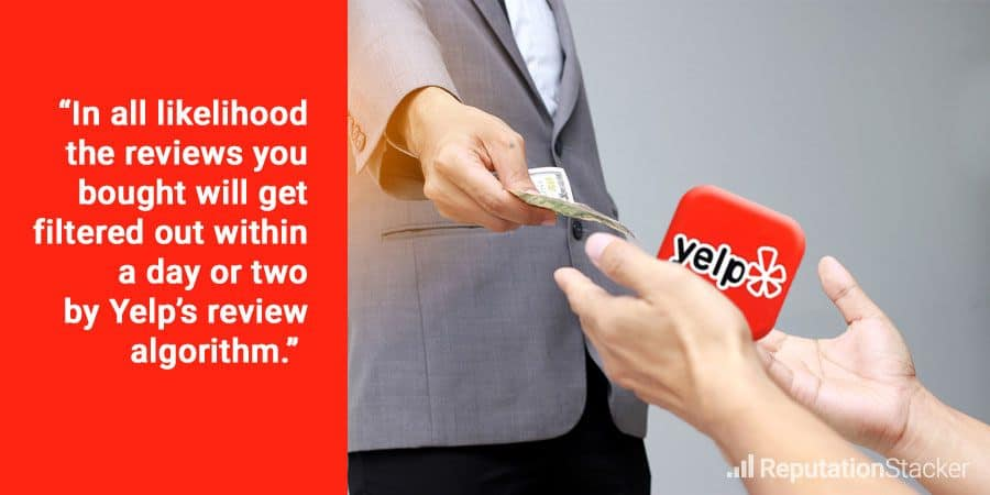 Want to buy Yelp reviews? Read this first